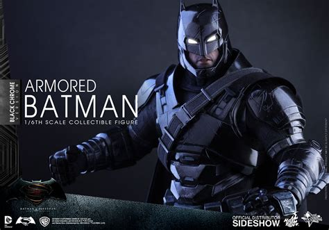 Hottoys Armored Batman Chocoolate dc comics armored batman black chrome version sixth scale fi sideshow collectibles