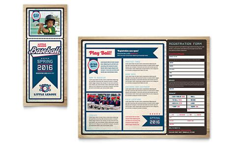 Youth Soccer Tri Fold Brochure Template Design Youth Brochure Template Free