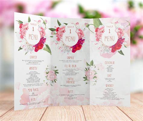 Free Printable Menu Templates For Wedding by Wedding Menu Template 24 In Pdf Psd Word
