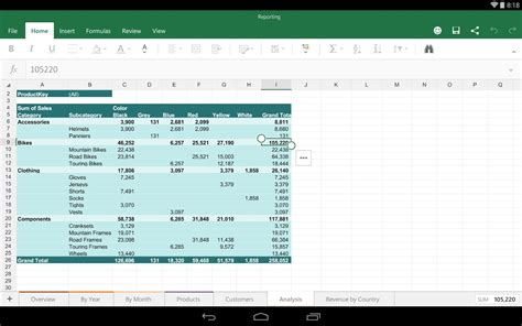 excel for android microsoft excel for android