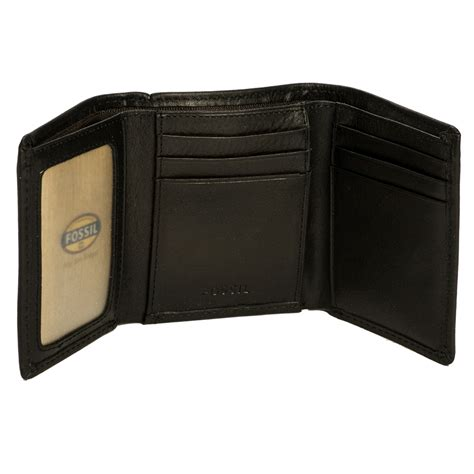 Genuine Leather Zip Wallet fossil ml3222 mens genuine leather estate zip trifold