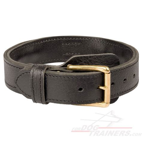 leather collars 2 ply leather agitation collar with handle c33 c33