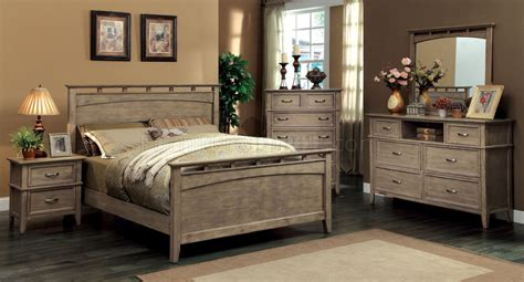 Weathered Bedroom Set by Cm7351 Loxley Bedroom In Weathered Oak W Options
