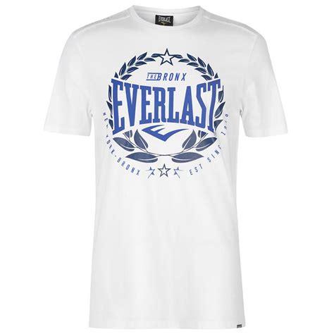 T Shirt Everlast White W3gj everlast the bronx laurel t shirt white
