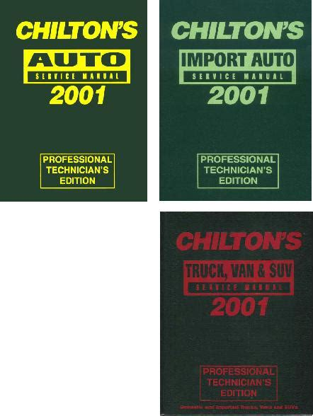 what is the best auto repair manual 2001 mitsubishi montero seat position control 1997 2001 chilton s pro service manuals 3 volume set