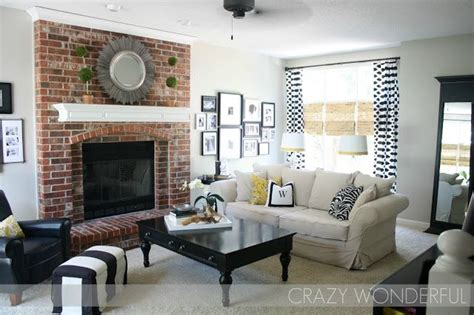 Living Room Ideas Brick Fireplace Wonderful Revere Pewter Wall With Brick