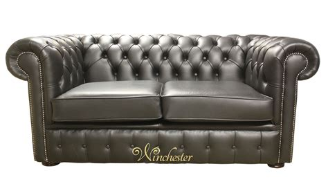 black leather 2 seater sofa chesterfield 2 seater black leather sofa offer