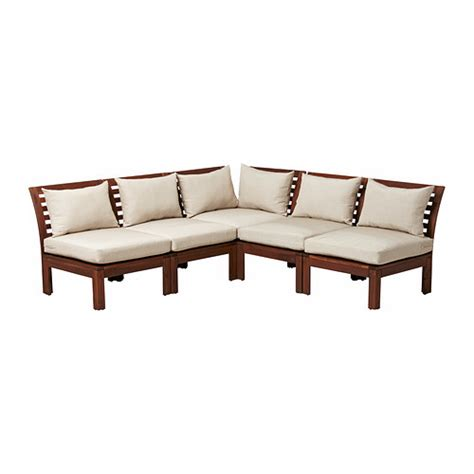 divani per esterno ikea 196 pplar 214 h 197 ll 214 divano angolare 3 2 da esterno mordente