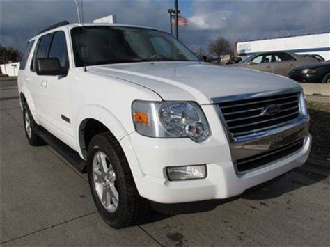 suv with 3rd row seating and dvd player purchase used 2007 suv ford xlt white low power dvd