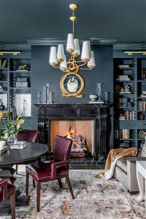 rachel parcells cozy home library designed