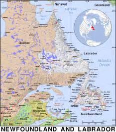 newfoundland and labrador canada map breeds picture