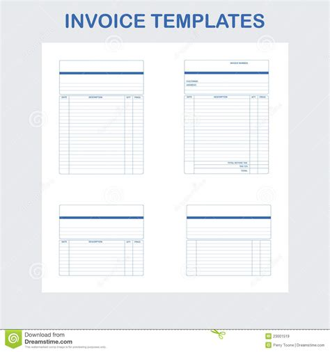 invoice templates stock vector image of invoice design