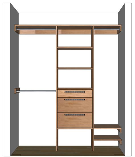 design by yourself diy closet organizer plans for 5 to 8 closet