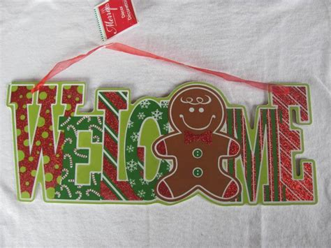 christmas welcome door sign decor new christmas winter