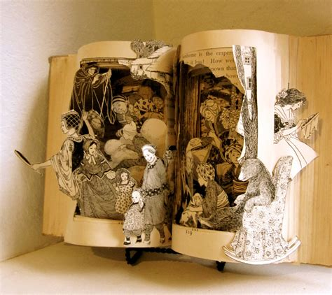 design is art book fairy tale an altered book by raidersofthelostart on etsy