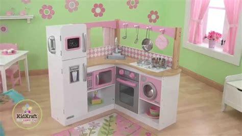 cuisine bois pour enfant grande cuisine d angle en bois pour enfant kidkraft