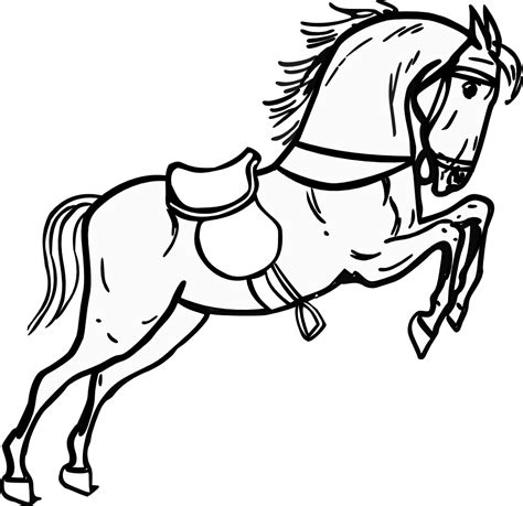 white horse coloring page horse clipart black and white clipart panda free
