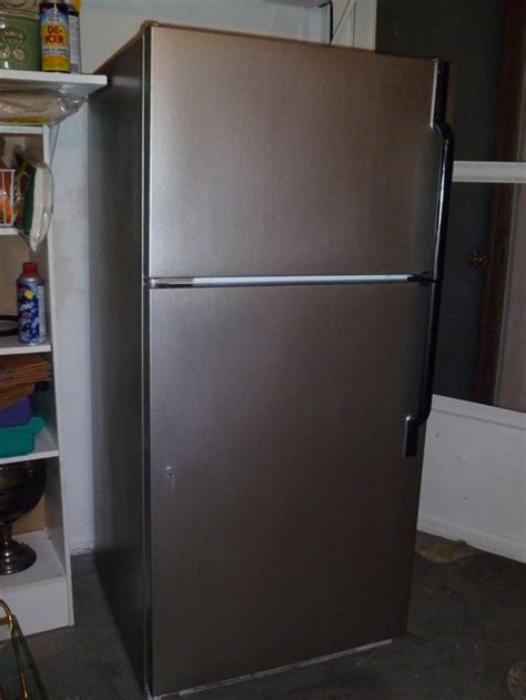 Get That Designer Fridge Look For A Tenner by Paint Your White Fridge To Make It Look Like Stainless Steel