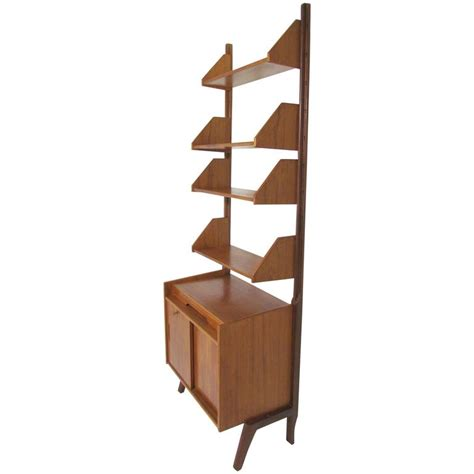 Free Standing Shelf Unit by Teak Free Standing Wall Shelving Book Unit In