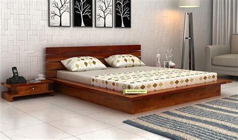 low floor beds dwayne low floor platform bed king size honey finish