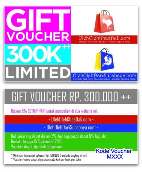 Gift Voucher Rp 350000 free gift voucher senilai rp 300 000 oleh oleh khas bali menjual oleh oleh khas pulau bali