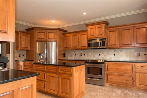 cherry oak kitchen cabinets teal taupe oak kitchen the kitchen had maple cabinets