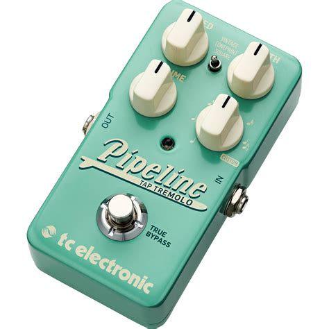 tc electronic pipeline tap tremolo pedal for electric