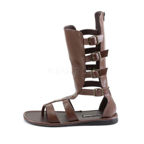 spartan sandals s brown pu gladiator spartan sandals