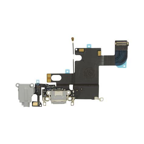 Iphone 6 6 Fleksibel Connector Charger Headphones iphone 6 dock port headphone flex cable replacement black