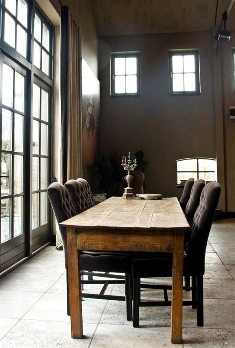 farm style dining table is for a rustic cottage