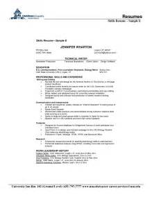 Personal Skills Resume Exles by Doc 792800 Resume Skills And Abilities List Bizdoska