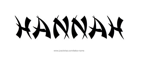 hannah name tattoo design name designs
