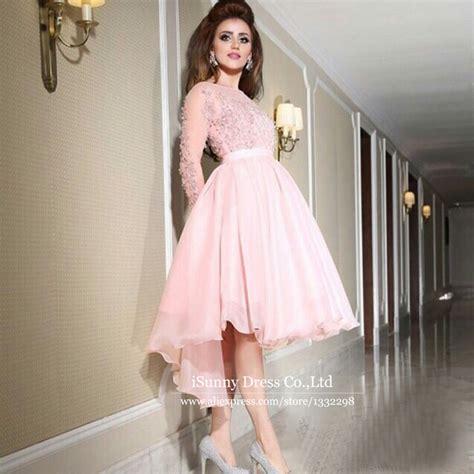 light pink long dress aliexpress com buy sheer long sleeve light pink prom