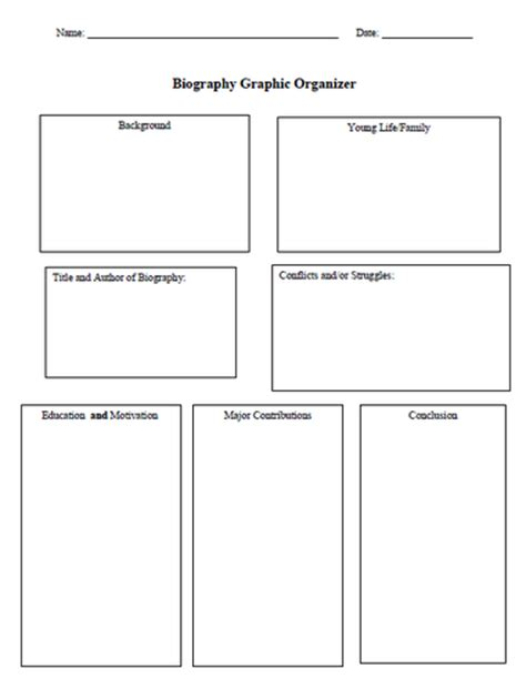 biography graphic organizer 2nd grade organize 2nd grade biography research