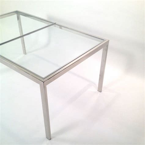 Chrome Dining Table Milo Baughman Chrome And Glass Dining Table At 1stdibs
