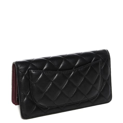 Chanel Quilted Wallet by Chanel Lambskin Quilted Yen Wallet Black 100549