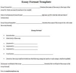 Templates For Essays by Essay Format Template Sle Sle Of Essay Format Template Sle Templates