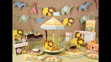 baby shower home decorations jungle themed baby shower decorations ideas youtube
