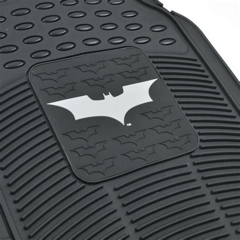 rubber st with logo rubber car floor mats batman set gift pack warner bros