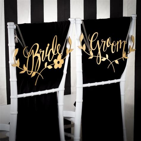 And Groom Chairs by Wedding Chair Signs Decoration And Groom Chairs