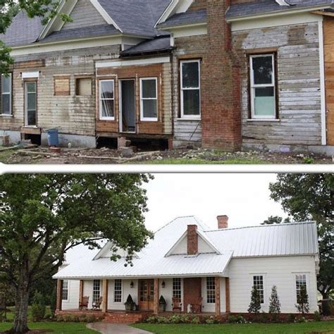 fixer upper after fixer upper before and after farmhouse dream front