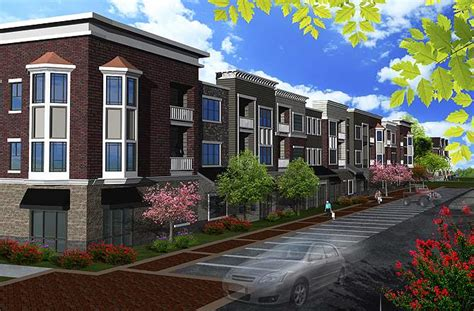 three story building three story apartment building plans images