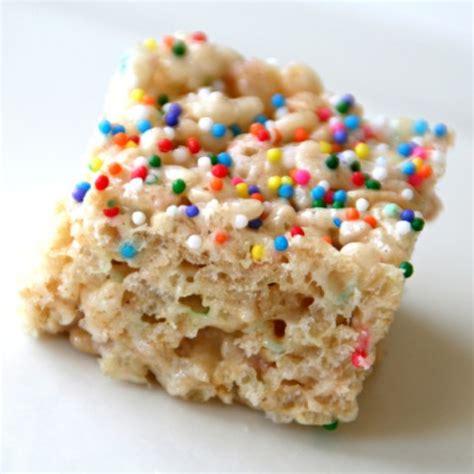 rice krispie treats funfetti rice krispies treats rice krispy treats with