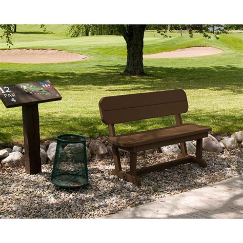 small plastic bench small plastic bench with back polywood park picnic