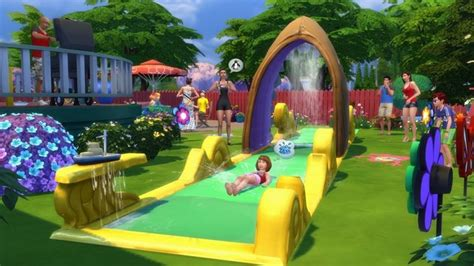 backyard stuff check out the lawn water slide in the sims 4 backyard