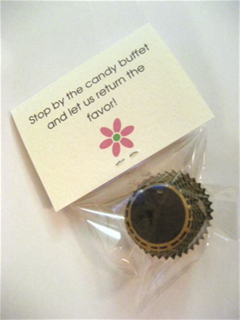 Wedding Favors Thank You Wording by A Sweet Thank You Favor Weddingbee