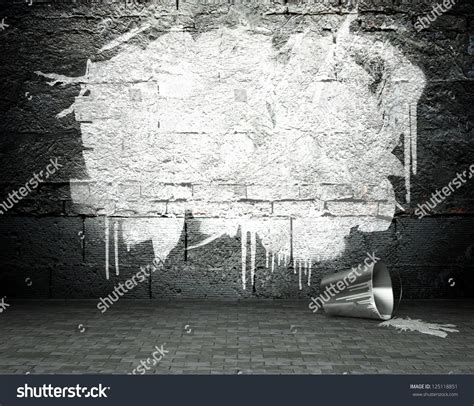 graffiti wall template graffiti wall frame background stock