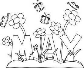flowers of the month coloring pages black and white month of may flowers clip black and