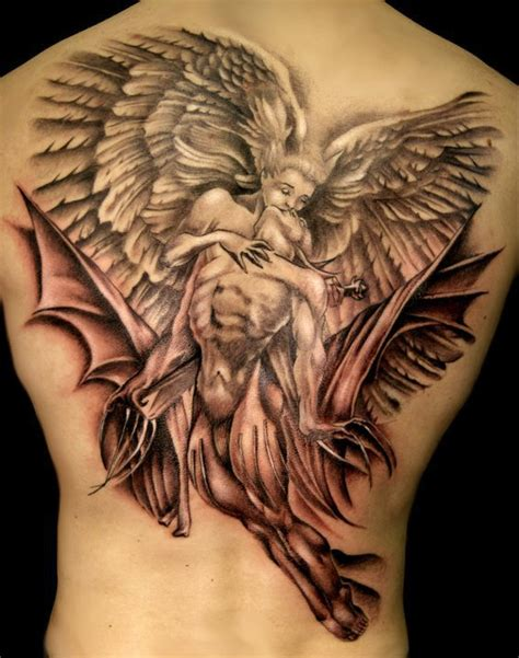 angel and demon tattoos back only tattoos