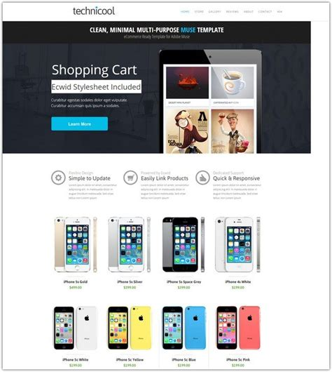 Best Shopping Cart Templates 50 best adobe muse templates free premium web